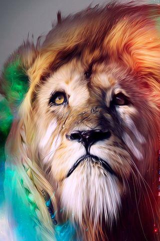 Multicolor Lion