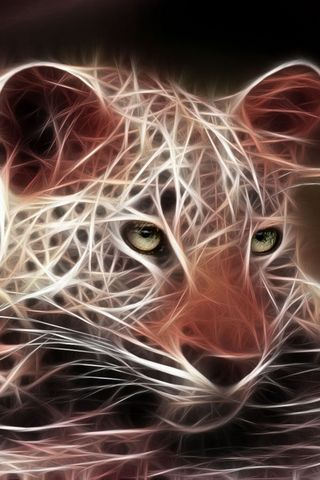 3D Cheetah Artwork