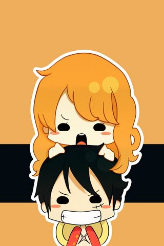 Nami And Luffy Chibi