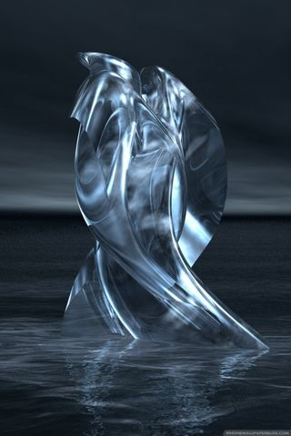 3D Fiction Silver IPhoneWallpapers