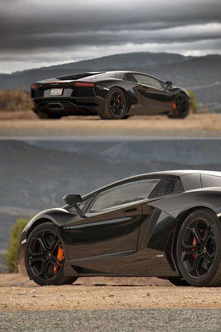Черный Lamborghini Aventador