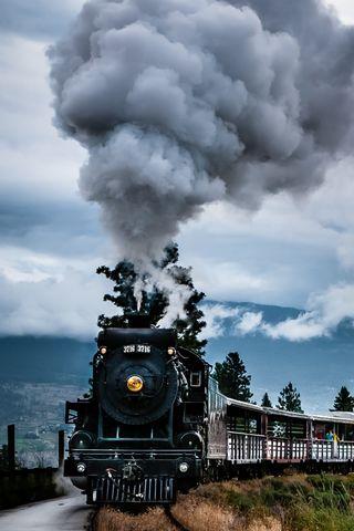 Old Train Locomotive