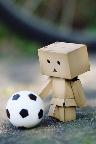 Danbo Playing Ball