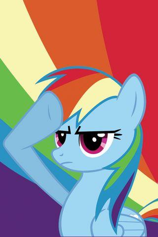 Rainbow Dash Salute