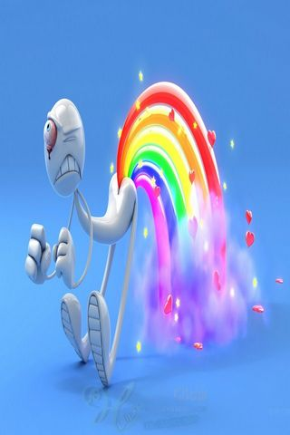 3D Wallpapers Collection 07 Rainbow Pada