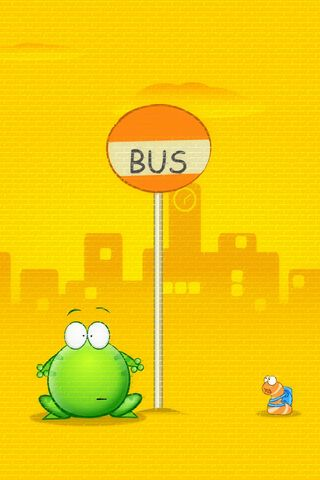 Cute Frog Cartoon (Bus)
