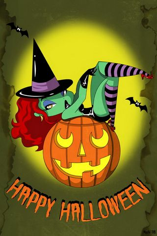 Happy Halloween Hot Witch 640x960