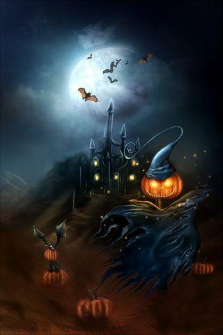 Scary Pumpkin 640x960