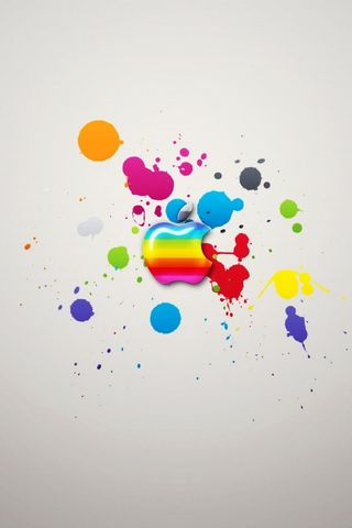 Colourful Apple Splash