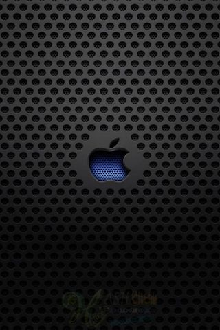 Apple-logo-métal-texture-iphone-5-fond d'écran