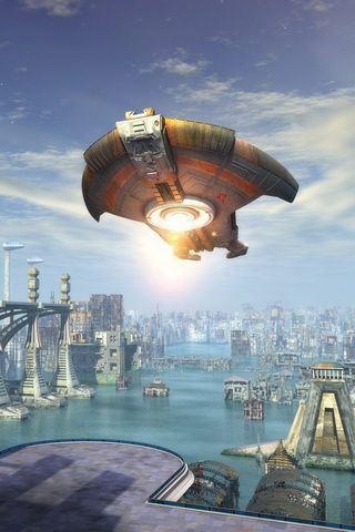 Fantasy City Architecture Ufo