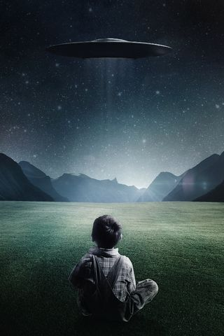Kid Waiting For UFO
