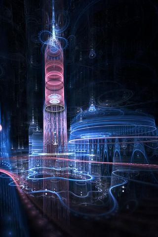 Glowing City