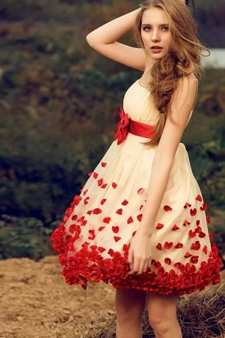 ローズペタルスカート