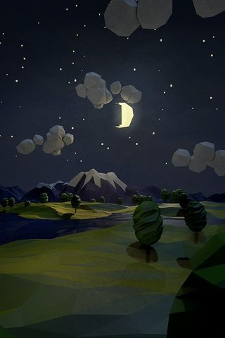 Mountain Moonlight Hd