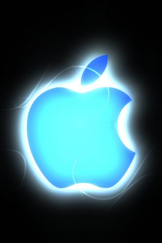 Apple Glows In Blue