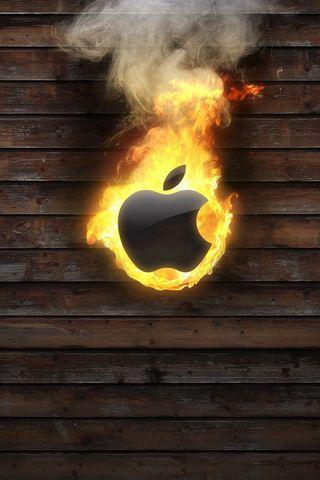 Apple Logo On Fire