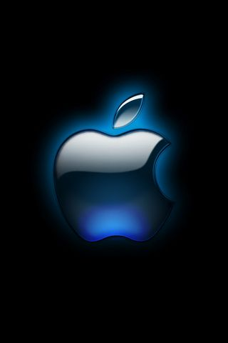 Logotipo da Apple brilhante preto
