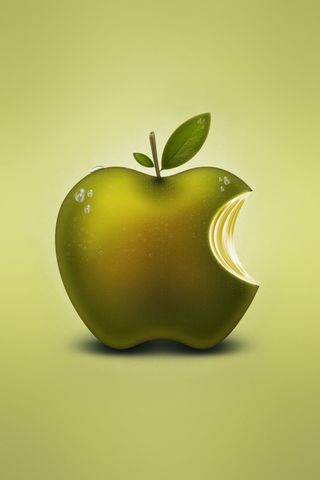 Apple Fruit Logo Green