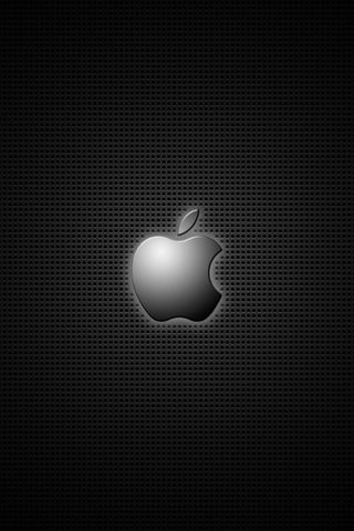 APPLE LOGO NOIR