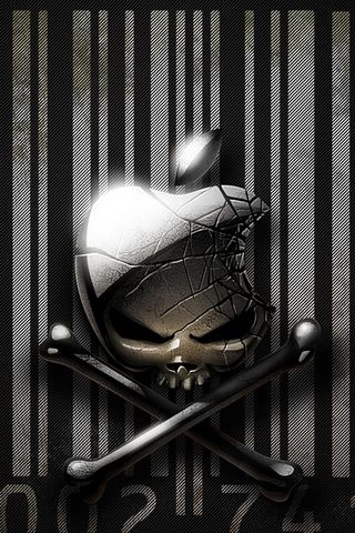 APPLE METAL SKULL