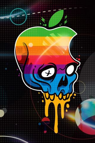 Apple Logo Skull