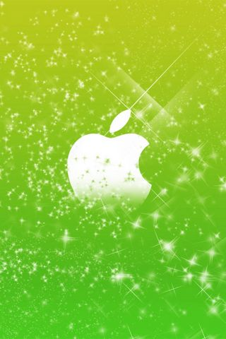 APPLE LOGO GREEN