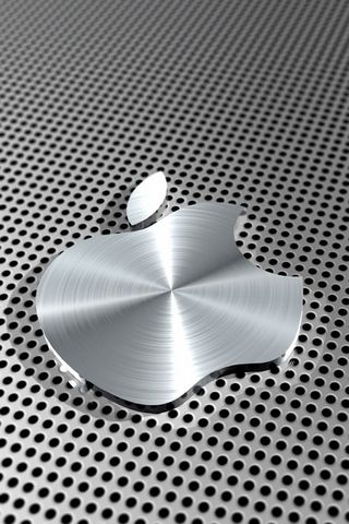 Logo Apple Silver