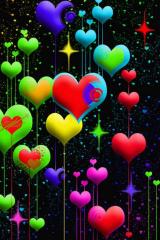 HEARTS COLORFUL