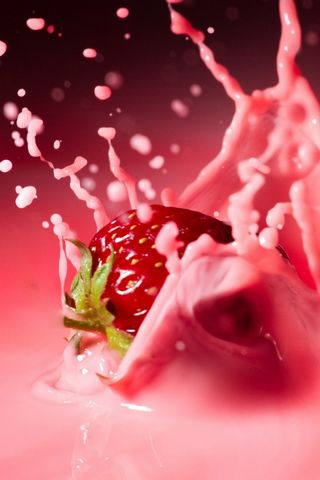 Milk-and-strawberry