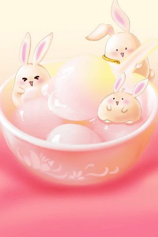 Cute Bunnies And Food