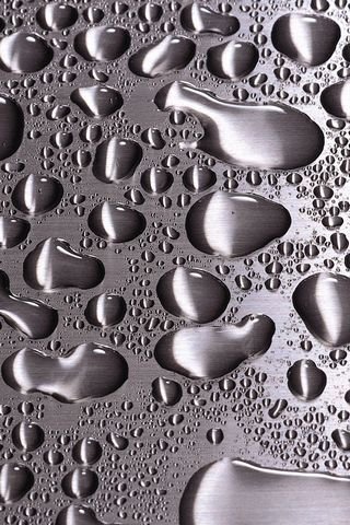 Waterdrops On Steel