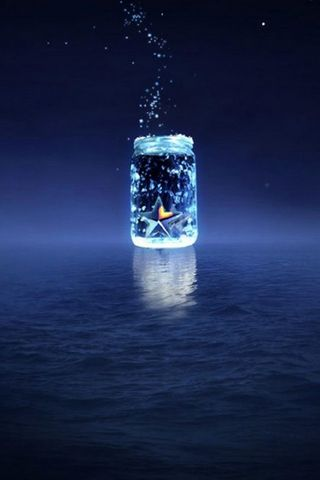 Blue Light Bottle