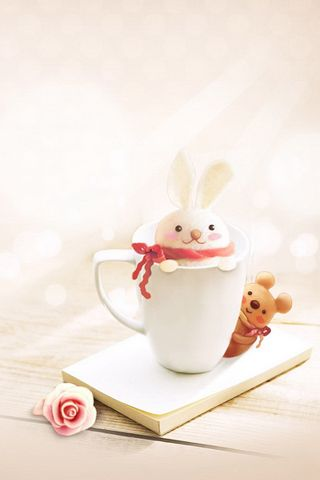 Cute Bunny In Cup