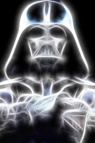 Glowing Dark Vader