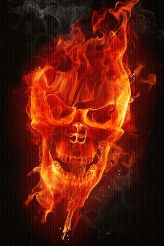 Caveira de fogo