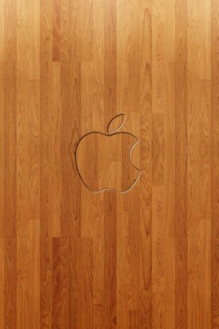 Apple in legno 2