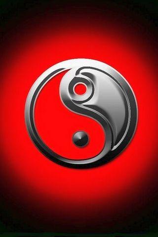 Red BG Yin Yang