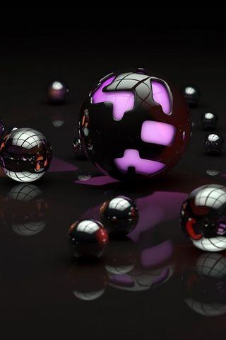 紫罗兰色球