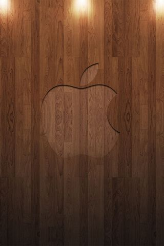 Apple in legno 1