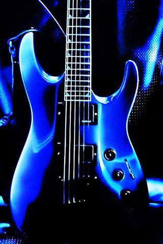 Niebieska gitara