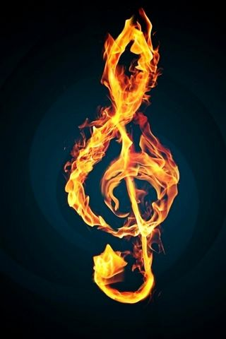 Fire Music Note