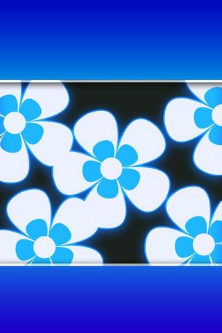 Blue Flower - Lock Screen - IP4