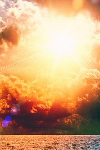 Güneş parlıyor