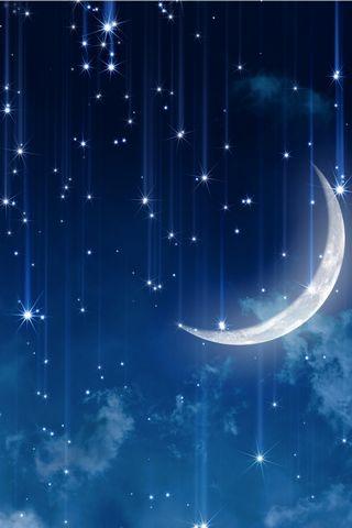 Space Stars Moon