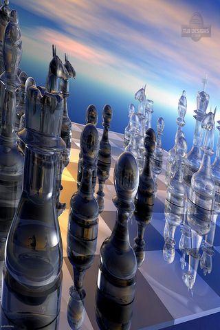3 satranç duvar kağıdı 3d