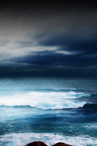 Tempête à la mer