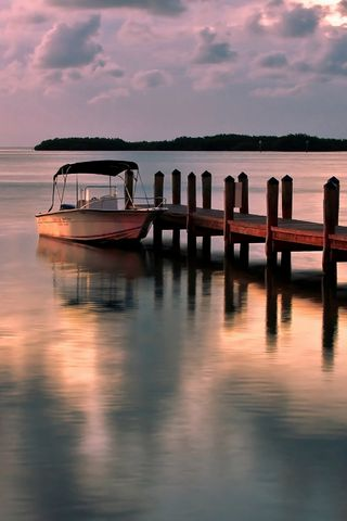 Moored Boat Scenery