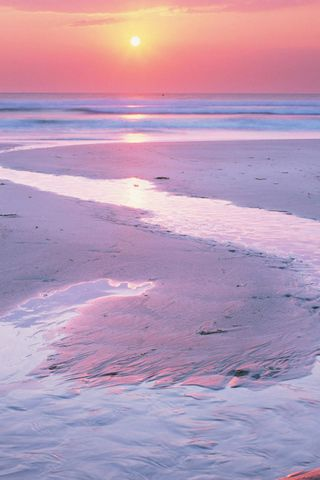 Estuary At Sunset