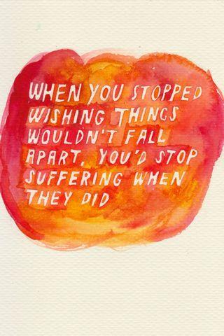 Eventually Everything Falls Apart